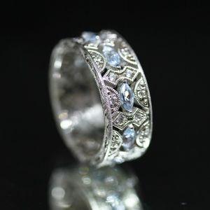 Jewelry - 925S Tacori Blue Marquise Topaz Wedding Ring